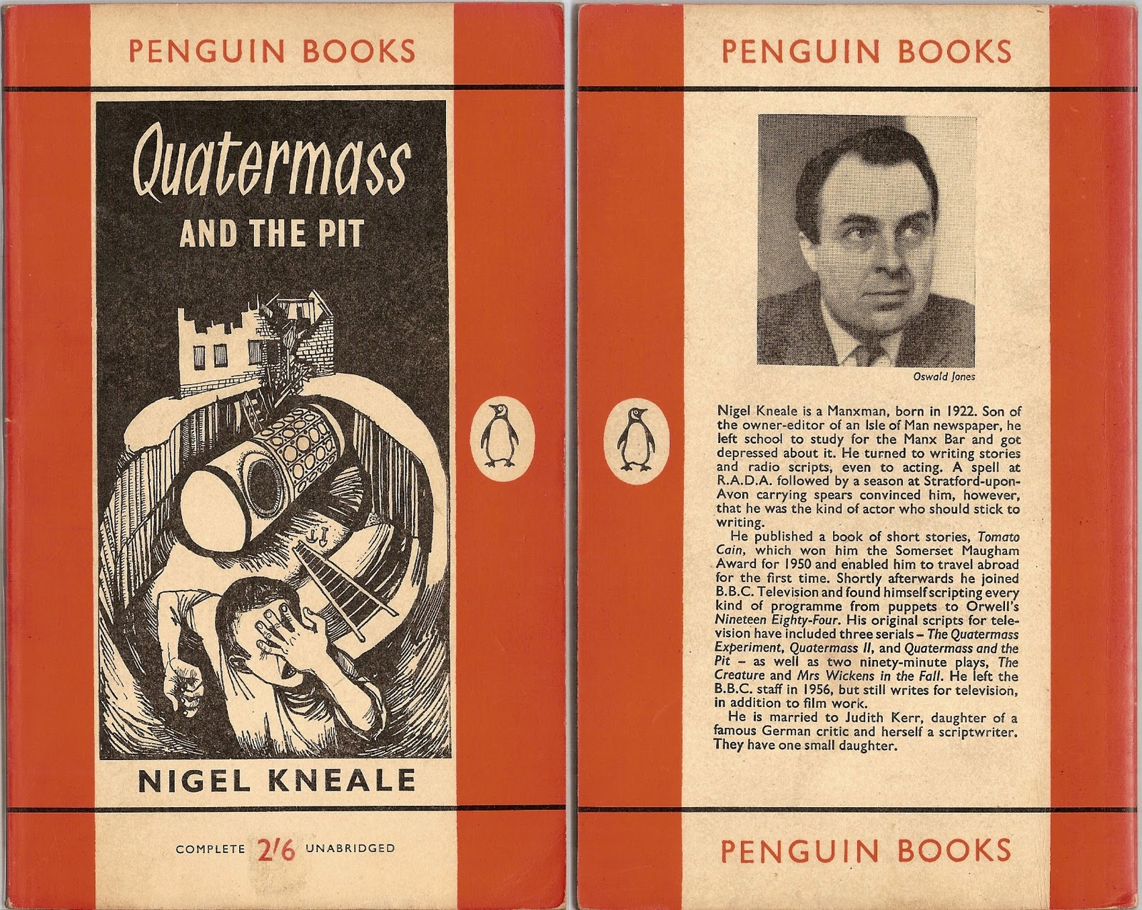 Quatermass and the Pit 1960 Nigel Kneale