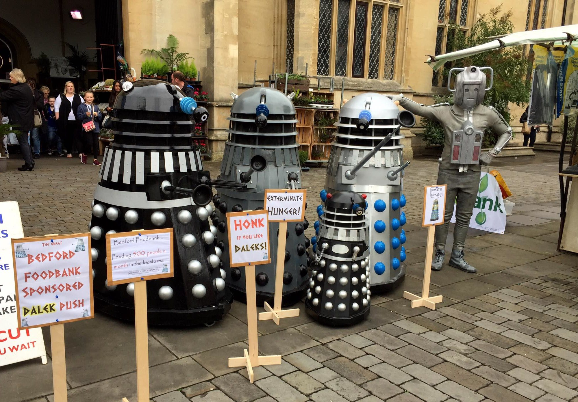 The Great Bedford Foodbank Sponsored Dalek Push The Doctor