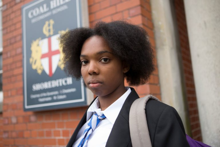 Picture shows: Ellis George as Courtney Woods