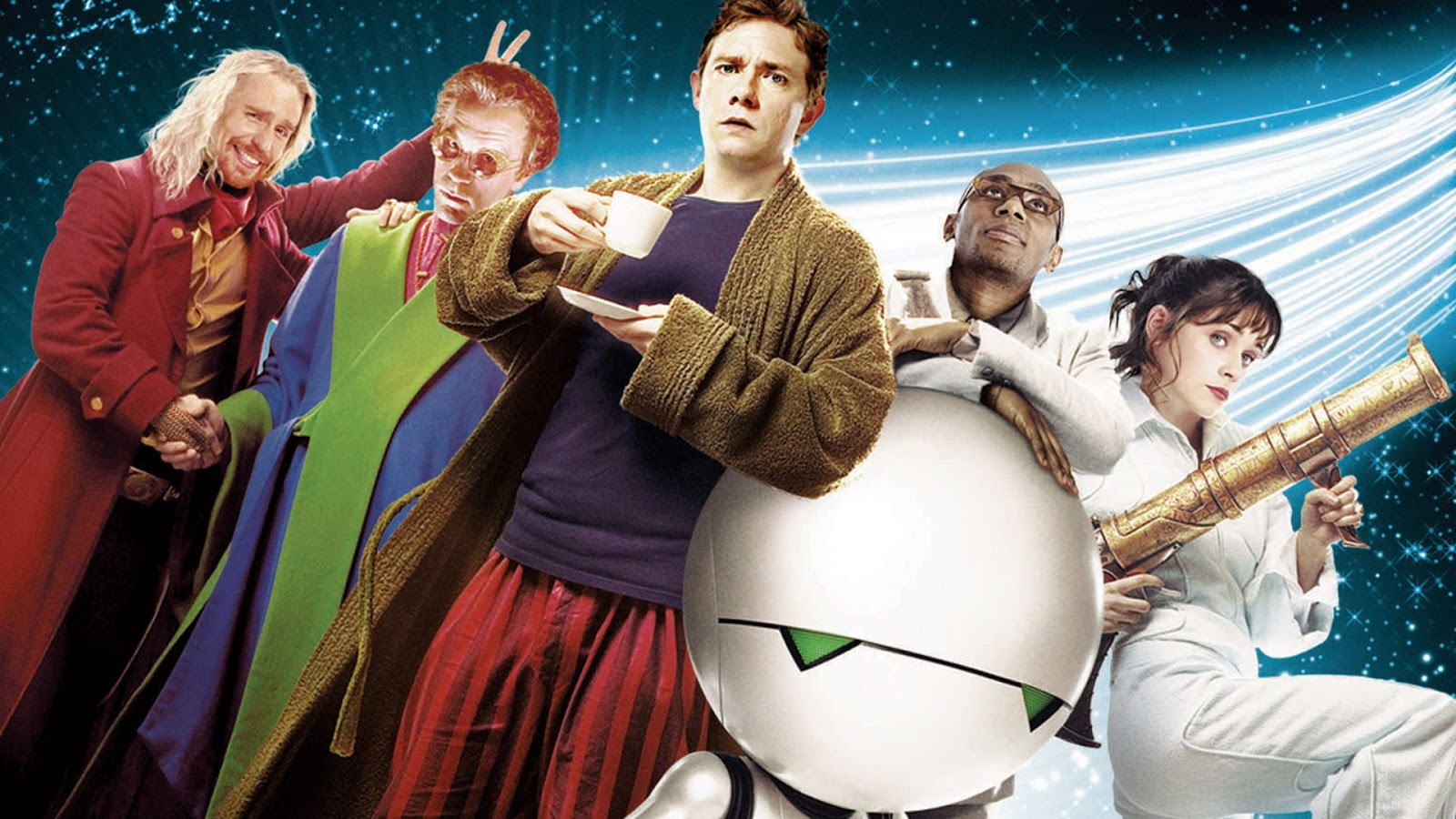 the hitchhikers guide to the galaxy Download hitchhiker's guide wallpaper celebrate the end of the quintessential phase by downloading our hitchhiker's guide wallpaper, featuring some of the stars who have appeared in the bbc radio and tv series since 1978.