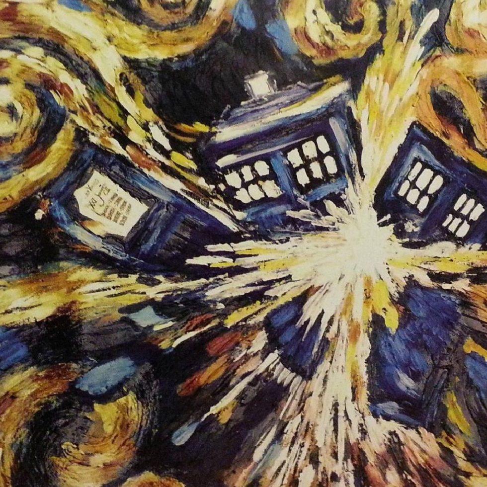 Vincent van Gogh, Exploding TARDIS