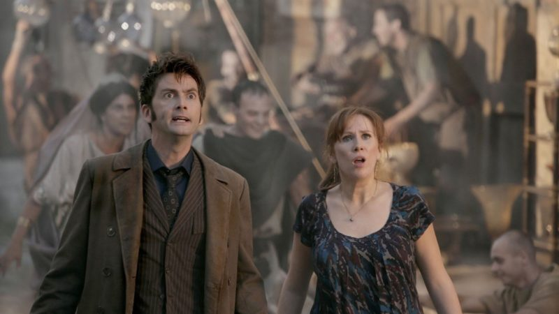 James Moran, Tracey Childs, and Francesca Fowler Take Part in The Fires of Pompeii Watch-Along