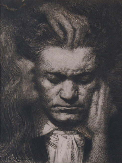 Lithograph of Beethoven