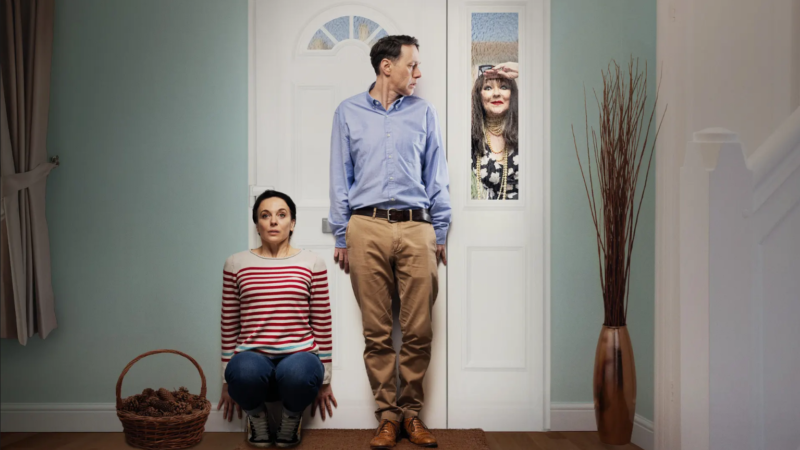 Reece Shearsmith, Amanda Abbington, and Frances Barber in 'The Unfriend'.
