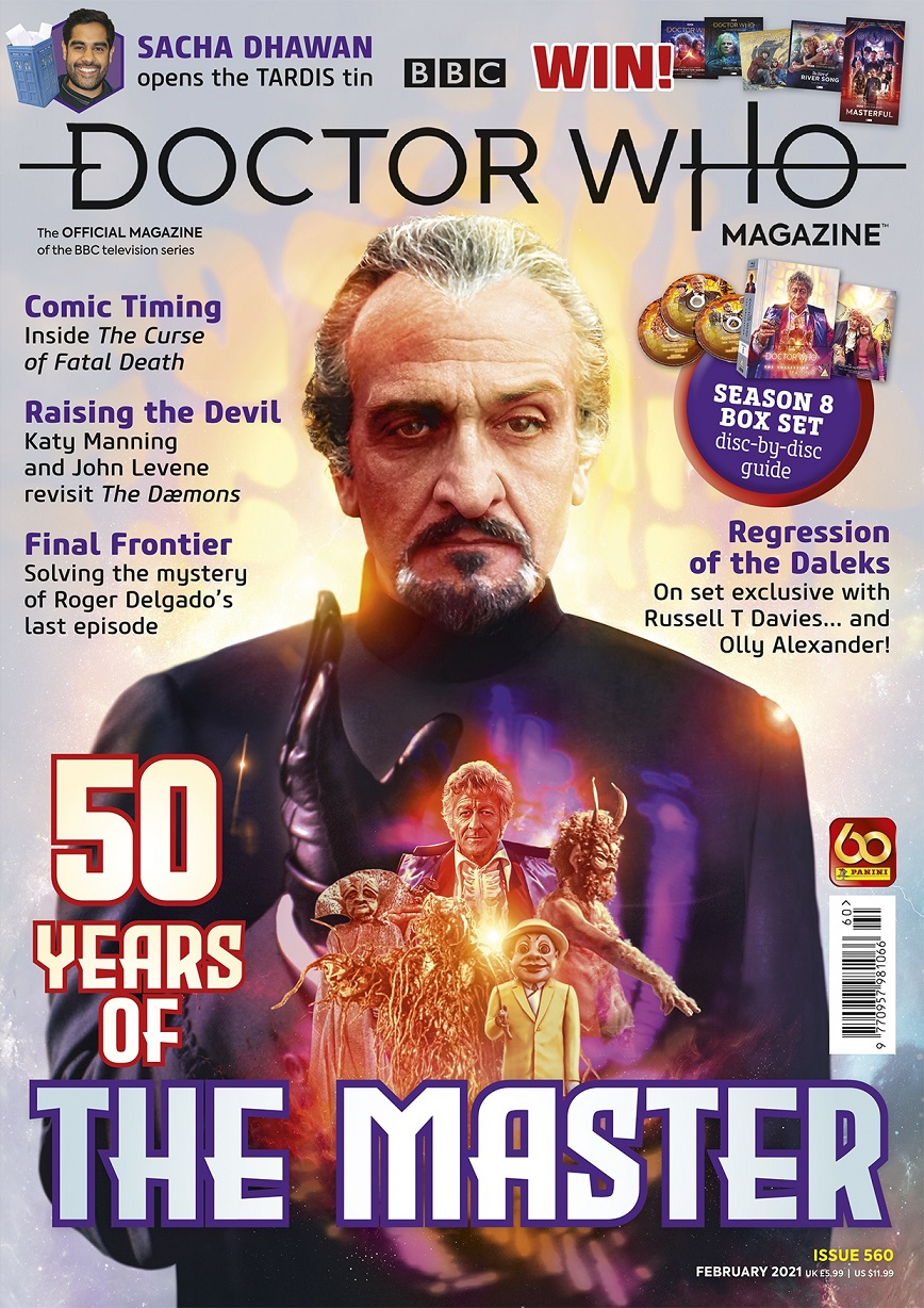 Out Now: Doctor Who Magazine #560 Celebrates 50 Years of the Master