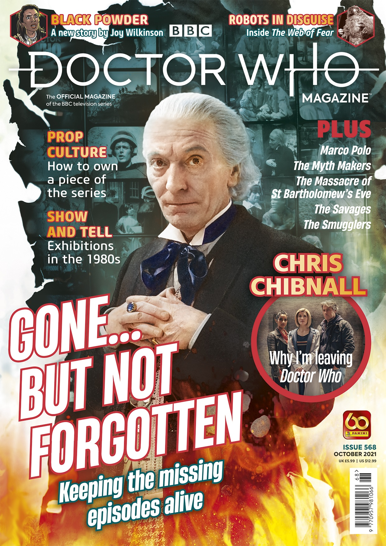 Out Now: Doctor Who Magazine #568 Covers Doctor Who's Missing Episodes