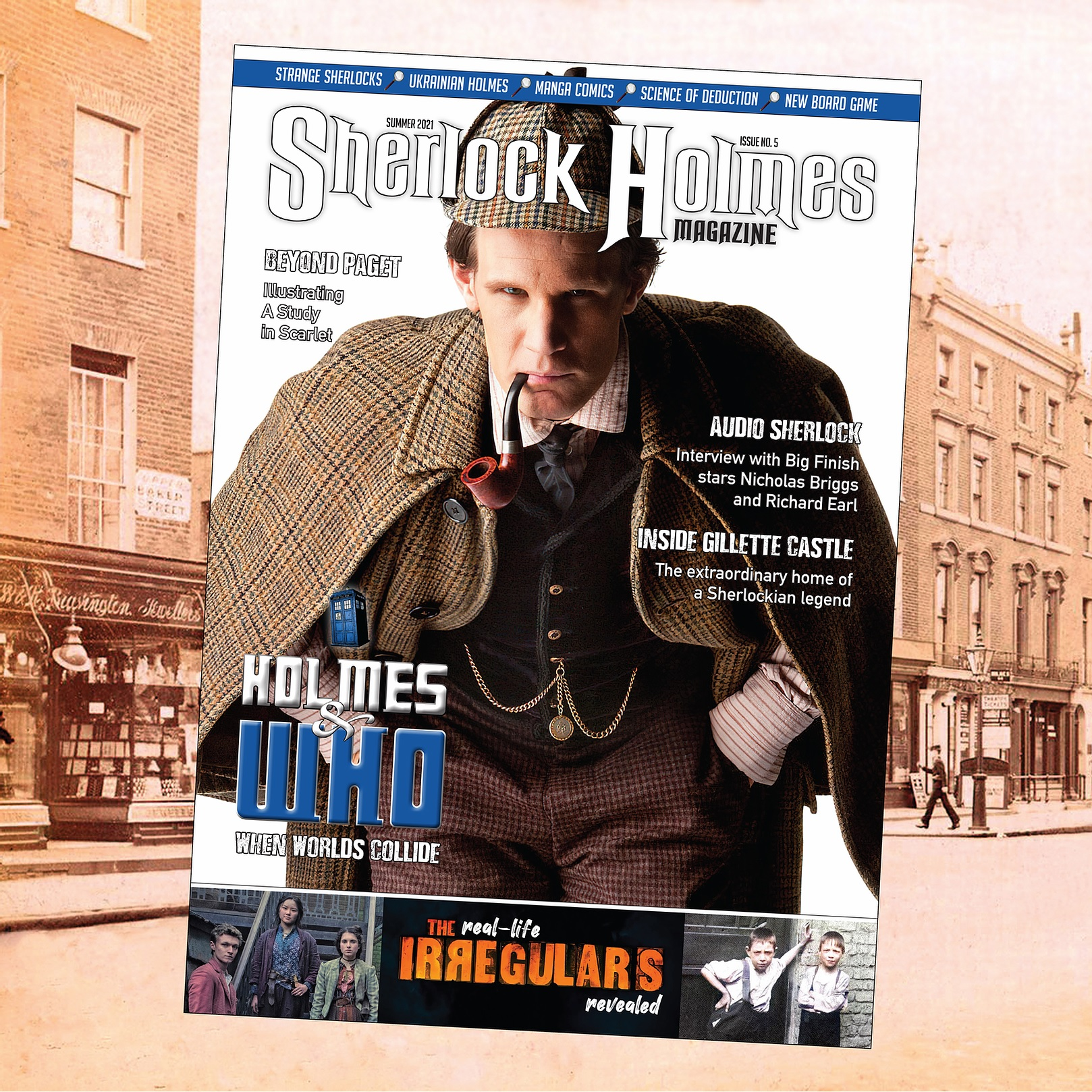 Out Now: Doctor Who Takes Center Stage in the Sherlock Holmes Magazine #5